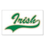 Irish Swoosh Green Rectangle Sticker