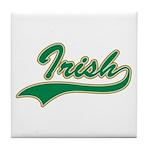 Irish Swoosh Green Tile Coaster