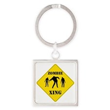 ZombieXing Square Keychain