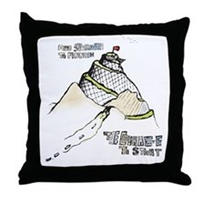 mountainRun Throw Pillow