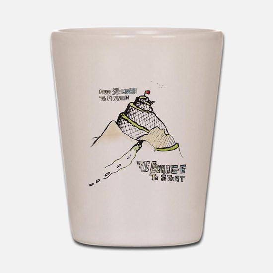 mountainRun Shot Glass