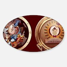 SSCcockpitWallPeelC Sticker (Oval)
