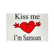 Kiss Me I'm Samoan Rectangle Magnet (10 pack)
