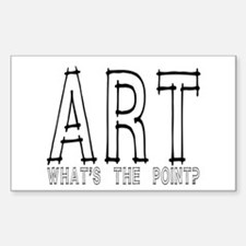 Art: What's The Point? Sticker (Rect.)