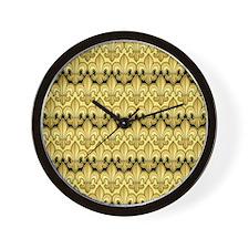 FleurWDgoldPc460ip Wall Clock