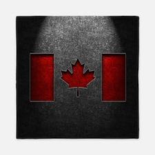Canadian Flag Stone Texture Queen Duvet