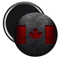 Canadian Flag Stone Texture Magnet