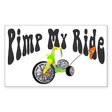 Pimp My Ride Rectangle Decal