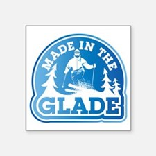 "made in the glade blue Square Sticker 3"" x 3"""