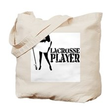 Lacrosse Player Tote Bag