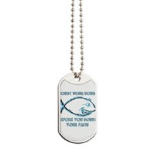 Doubt Your Doubt Neon Dog Tags