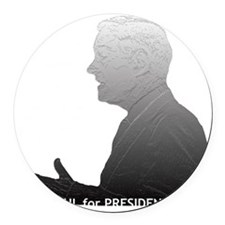 paul_outlinedimage_bw Round Car Magnet