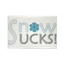 SNOW SUCKS Anti-Snow Rectangle Magnet
