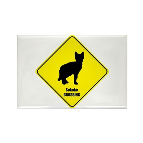 Sokoke Crossing Rectangle Magnet (100 pack)