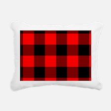 shoulderbagredcheckeredp Rectangular Canvas Pillow
