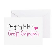 I'm going to be a Great Grandma Greeting Cards (Pa