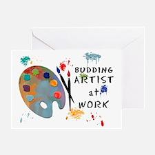 Budding Artist At Work Greeting Card