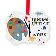 Budding Artist At Work Picture Ornament