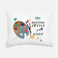 Budding Artist At Work Rectangular Canvas Pillow
