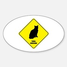 Tabby Crossing Oval Decal