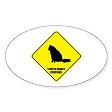 Angora Crossing Oval Decal