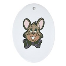 Retro Vingtage Easter Bunny Oval Ornament