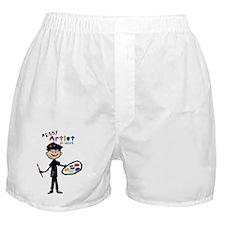 Messy Artist At Work Boys Boxer Shorts
