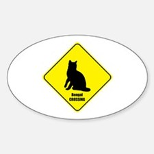 Bengal Crossing Oval Decal