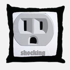 shockingDARK Throw Pillow