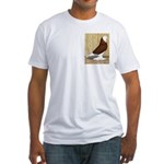 Red Bald West Fitted T-Shirt