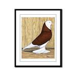 Red Bald West Framed Panel Print