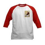 Red Bald West Kids Baseball Jersey