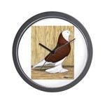 Red Bald West Wall Clock