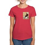 Red Bald West Women's Dark T-Shirt