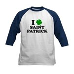 I Love Saint Patrick Kids Baseball Jersey