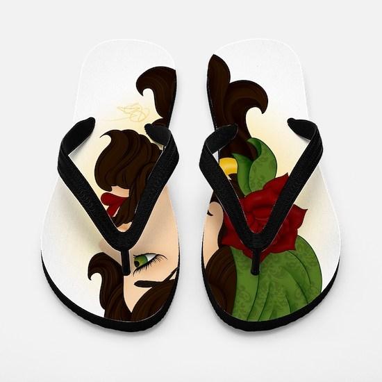 Bearded Lady Flip Flops