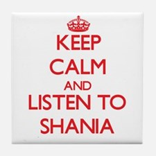 Keep Calm and listen to Shania Tile Coaster