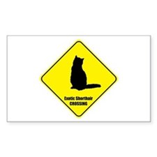 Shorthair Crossing Rectangle Decal