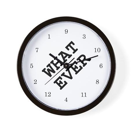 whatever Wall Clock 02 - white