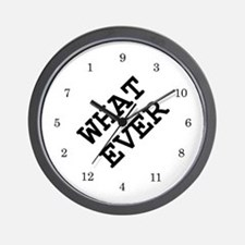 whatever Wall Clock 02 - white