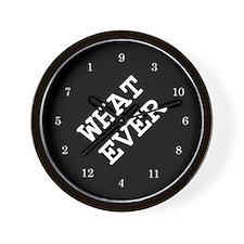 whatever Wall Clock 02 - black