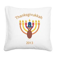 Thanksgivukkah 2013 Square Canvas Pillow