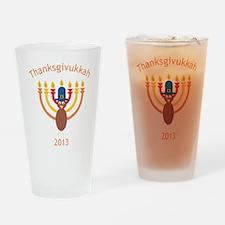 Thanksgivukkah 2013 Drinking Glass