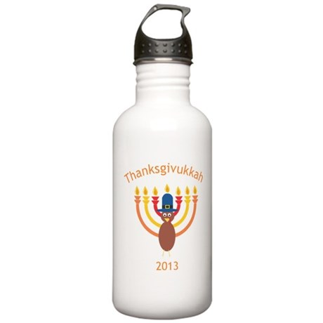 Thanksgivukkah 2013 Water Bottle