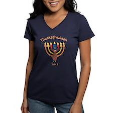 Thanksgivukkah 2013 V-Neck T-Shirt