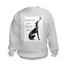 Greyhound Sweatshirt/Butterfly