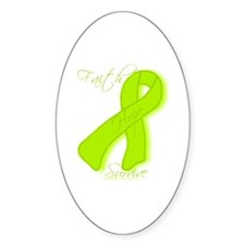 Lymes Disease/Lymphoma Awareness Oval Decal