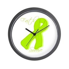 Lymes Disease/Lymphoma Awareness Wall Clock