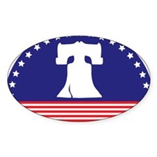 Liberty Bell Flag Decal