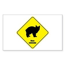 Manx Crossing Rectangle Decal